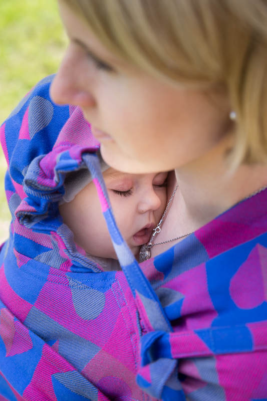 WRAP-TAI carrier Mini with hood/ jacquard twill / 100% cotton / HEARTBEAT - CHLOE #babywearing