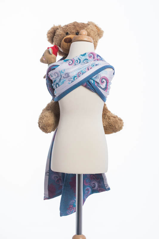 Doll Sling, Jacquard Weave, 100% cotton - HIGH TIDE #babywearing