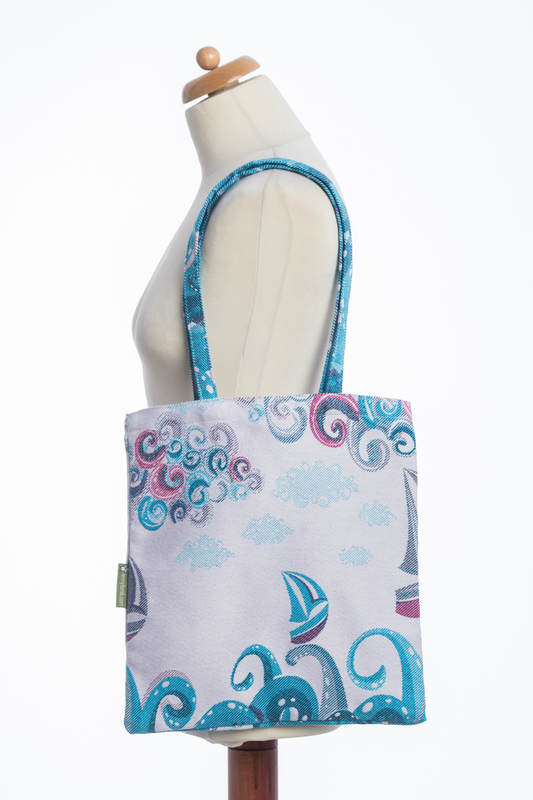 Shopping bag made of wrap fabric (100% cotton) - HIGH TIDE #babywearing