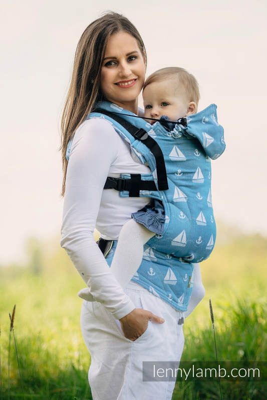 Ergonomic Carrier, Baby Size, jacquard weave 100% cotton - wrap conversion from HOLIDAY CRUISE - Second Generation #babywearing