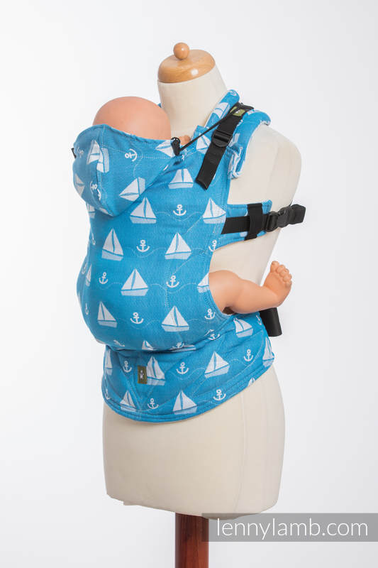 Ergonomic Carrier, Toddler Size, jacquard weave 100% cotton - wrap conversion from HOLIDAY CRUISE - Second Generation #babywearing