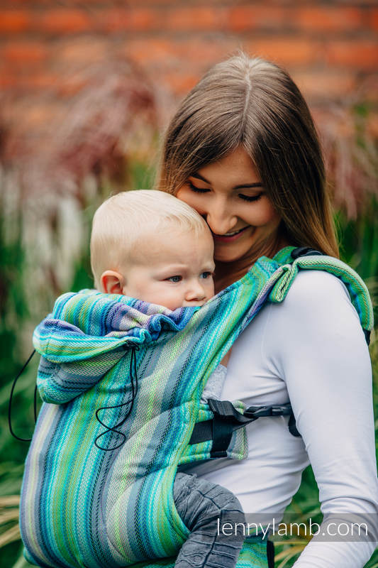 Ergonomic Carrier, Toddler Size, herringbone weave 100% cotton - wrap conversion from LITTLE HERRINGBONE AMAZONIA - Second Generation #babywearing