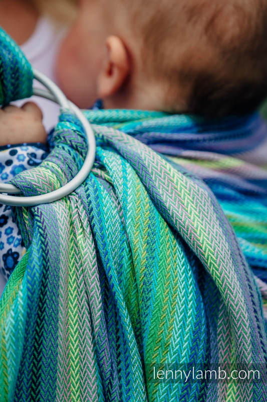 Ringsling, Herringbone Weave (100% cotton) - LITTLE HERRINGBONE AMAZONIA #babywearing