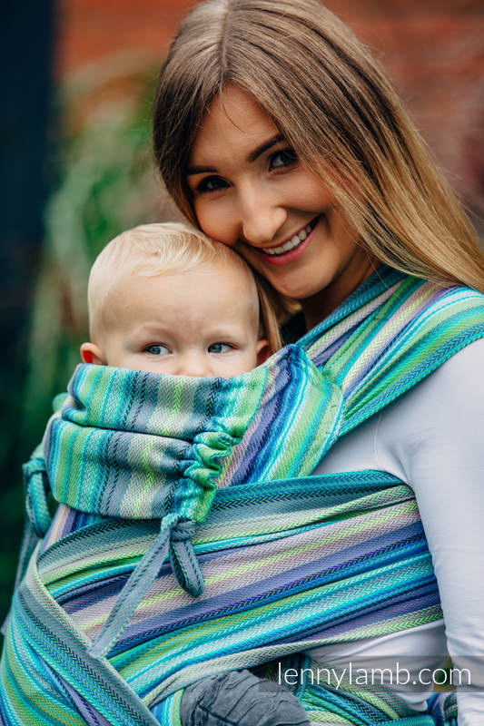 WRAP-TAI carrier Toddler with hood/ herringbone twill / 100% cotton / LITTLE HERRINGBONE AMAZONIA #babywearing