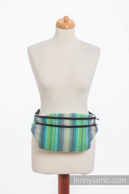 Waist Bag made of woven fabric, size large (100% cotton) - LITTLE HERRINGBONE AMAZONIA #babywearing
