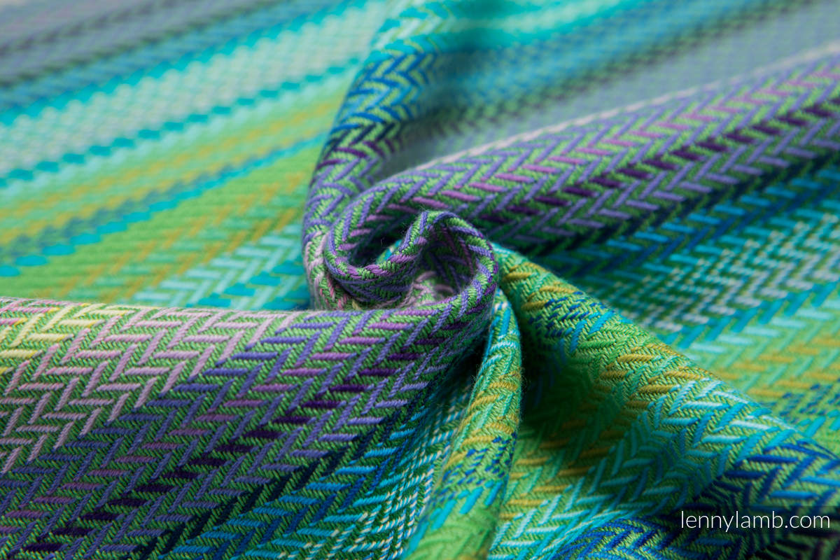 Baby Wrap, Herringbone Weave (100% cotton) - LITTLE HERRINGBONE AMAZONIA - size XS #babywearing