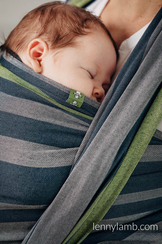 Baby Sling, Broken Twill Weave, 100% cotton,  SMOKY - LIME - size XS (grade B) #babywearing