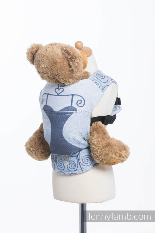 Doll Carrier made of woven fabric, 100% cotton - WINTER PRINCESSA  #babywearing