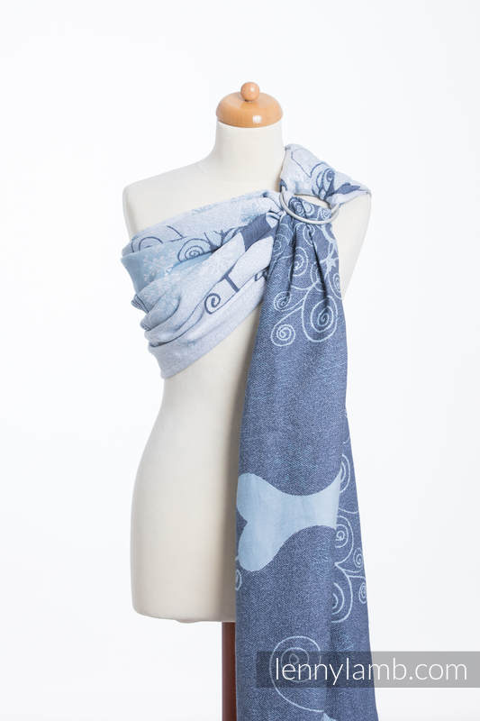 Ringsling, Jacquard Weave (100% cotton) - with gathered shoulder - WINTER PRINCESSA  #babywearing