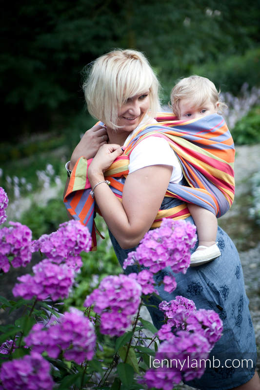 Baby Sling, Broken Twill Weave (100% Cotton) - ZUMBA ORANGE - size XL (grade B) #babywearing