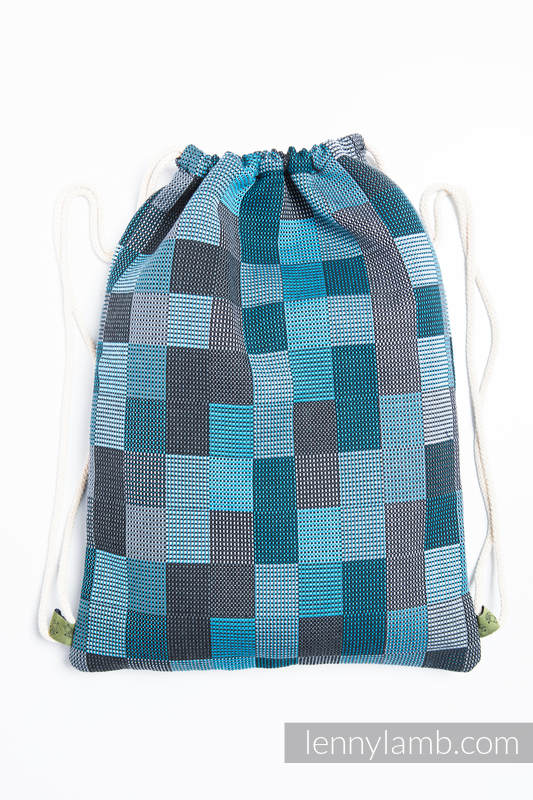 Sackpack made of wrap fabric (100% cotton) - QUARTET RAINY - standard size 32cmx43cm #babywearing