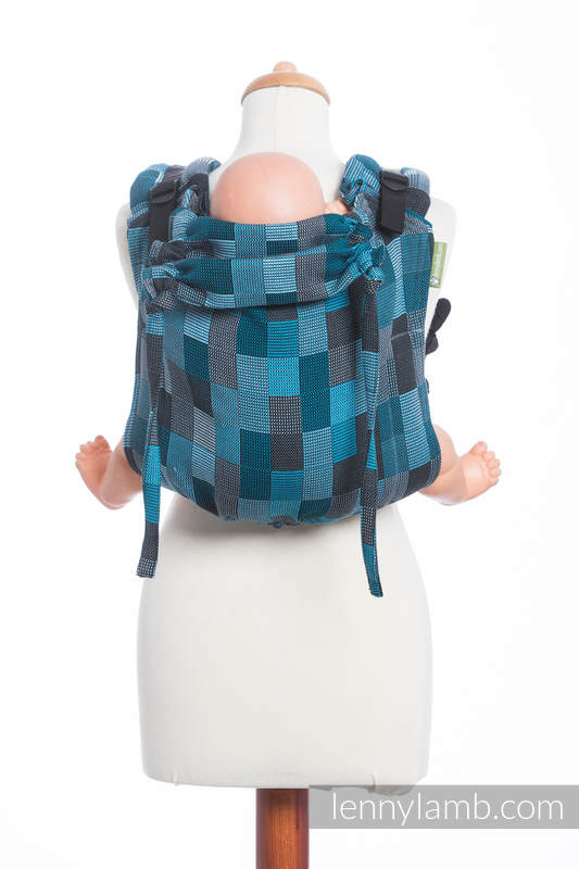 Lenny Buckle Onbuhimo, toddler size, crackle weave (100% cotton) - Wrap conversion from QUARTET RAINY  #babywearing