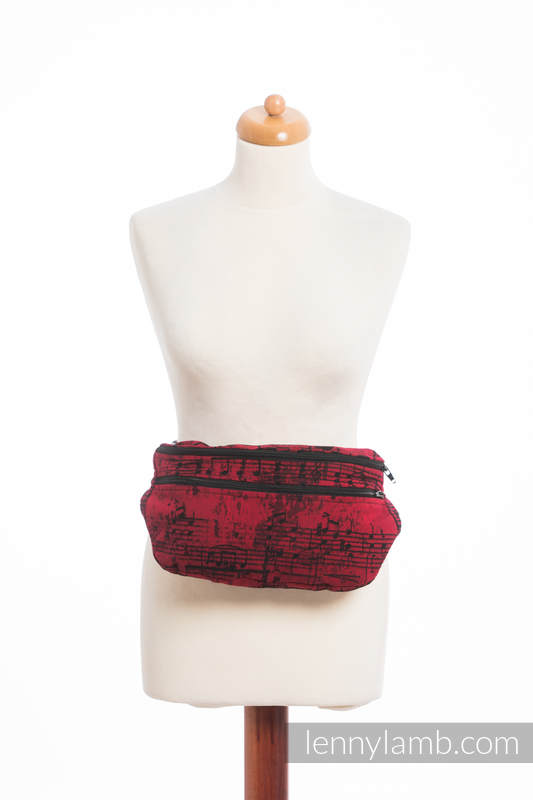 Waist Bag made of woven fabric, size large (100% cotton) - SYMPHONY FLAMENCO #babywearing