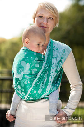 Baby Wrap, Jacquard Weave (100% cotton) - POWER OF HOPE - size M (grade B)