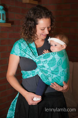 Baby Wrap, Jacquard Weave (100% cotton) - NORTHERN LEAVES - size S (grade B)