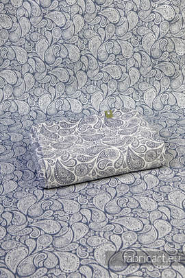 PAISLEY NAVY BLUE & CREAM, jacquard weave fabric, 100% cotton, width 140 cm, weight 260 g/m²