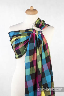 Ringsling, Diamond Weave (100% cotton), with gathered shoulder - DIAMOND PLAID