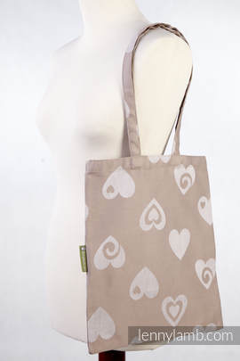 Shopping bag made of wrap fabric (84% cotton, 16% linen) - SWEETHEART