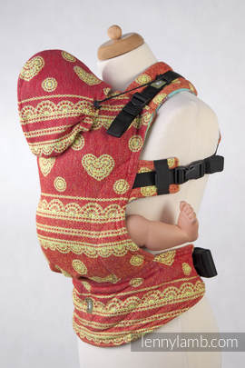 Ergonomic Carrier, Toddler Size, jacquard weave 100% cotton - Sorbet Lace, Second Generation