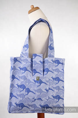 Shoulder bag made of wrap fabric (100% cotton) - BLUE TWOROOS - standard size 37cmx37cm