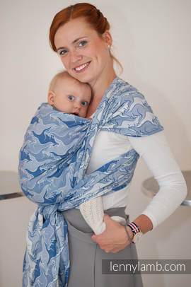 Baby Wrap, Jacquard Weave (100% cotton) - BLUE TWOROOS - size M