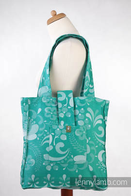 Shoulder bag made of wrap fabric (100% cotton) - POWER OF HOPE - standard size 37cmx37cm