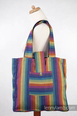 Shoulder bag made of wrap fabric (60% cotton, 40% bamboo) - Paradiso - standard size 37cmx37cm
