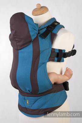 Ergonomic Carrier, Baby Size, broken-twill weave 100% cotton - wrap conversion from FOREST DEW, Second Generation
