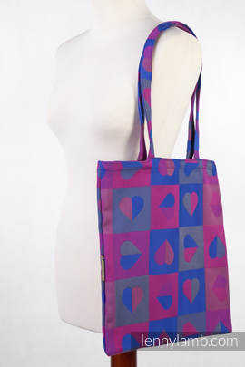 Shopping bag made of wrap fabric (100% cotton) - HEARTBEAT - CHLOE