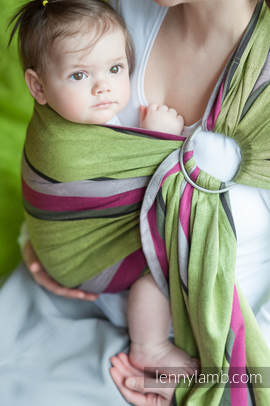 Ring Sling - 100% Cotton - Broken Twill Weave -  Lime & Khaki