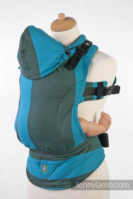Ergonomic Carrier, Baby Size, broken-twill weave 100% cotton - wrap conversion from MOUNTAIN SPRING