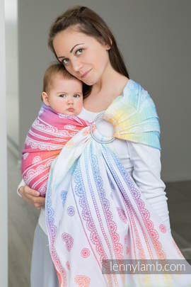 Ringsling, Jacquard Weave (100% cotton) - RAINBOW LACE