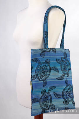 Shopping bag made of wrap fabric (100% cotton) - SEA ADVENTURE DARK  (grade B)