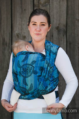 Baby Wrap, Jacquard Weave (100% cotton) - SEA ADVENTURE DARK - size S (grade B)