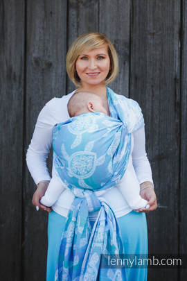 Baby Wrap, Jacquard Weave (100% cotton) - SEA ADVENTURE LIGHT - size XS