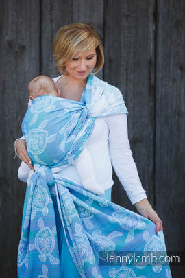 Baby Wrap, Jacquard Weave (100% cotton) - SEA ADVENTURE LIGHT - size XL (grade B)