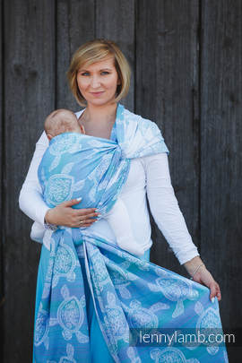Baby Wrap, Jacquard Weave (100% cotton) - SEA ADVENTURE LIGHT - size M (grade B)