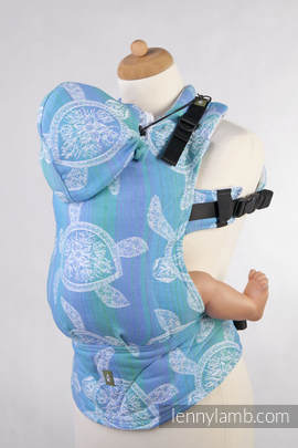 Ergonomic Carrier, Baby Size, jacquard weave 100% cotton - wrap conversion from SEA ADVENTURE LIGHT - Second Generation