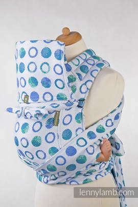Mei Tai carrier Toddler with hood/ jacquard twill / 100% cotton / MOTHER EARTH Reverse
