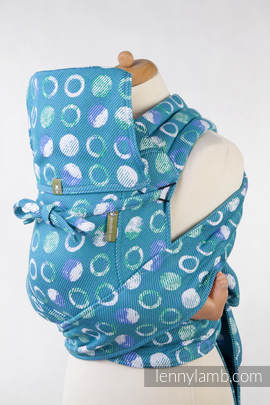 Mei Tai carrier Toddler with hood/ jacquard twill / 100% cotton / MOTHER EARTH