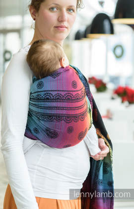 Ringsling, Jacquard Weave (100% cotton) - RAINBOW LACE DARK