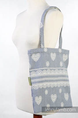 Shopping bag made of wrap fabric (60% cotton, 28% linen 12% tussah silk) - ROYAL LACE