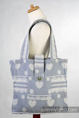 Shoulder bag made of wrap fabric (60% cotton, 28% linen 12% tussah silk) - ROYAL LACE - standard size 37cmx37cm