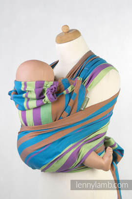 WRAP-TAI carrier Toddler, broken-twill weave - 100% cotton - with hood, ZUMBA BLUE (grade B)