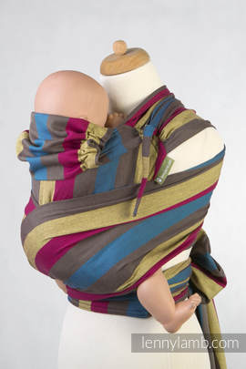 WRAP-TAI carrier TODDLER, broken-twill weave - 100% cotton - with hood, FOREST MEADOW (grade B)