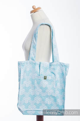 Shoulder bag made of wrap fabric (100% cotton) - TRINITY - standard size 37cmx37cm (grade B)