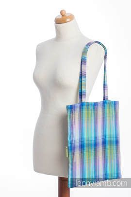 Shopping bag made of wrap fabric (100% cotton) - LITTLE HERRINGBONE PETREA