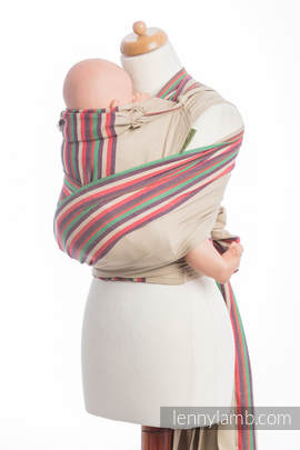 WRAP-TAI carrier Mini, broken-twill weave - 100% cotton - with hood, SAND VALLEY (grade B)