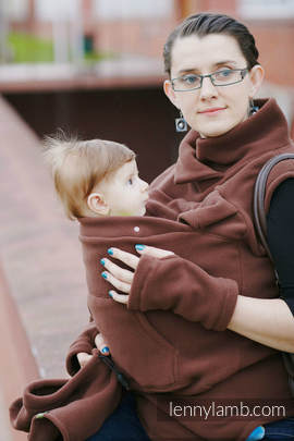 Fleece Babywearing Vest - size S - Brown (grade B)