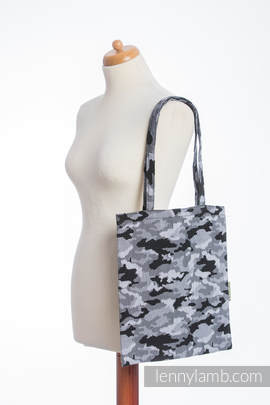 Shopping bag made of wrap fabric (100% cotton) - GREY CAMO